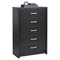 District 5-Drawer Chest - Washed Black - PRE-HDBR-0550-1