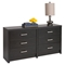 District 6-Drawer Dresser - Washed Black - PRE-HDBR-0560-1