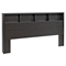 District King Bedroom Set with 2-Drawer Tall Nightstand - Washed Black - PRE-HBPK-0500-2K-BED-SET