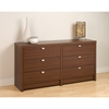 Series 9 Designer 6-Drawer Dresser - Warm Cherry