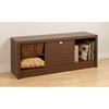 Series 9 Designer Cubbie Bench with Door - Warm Cherry