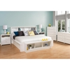 Calla King Platform Bedroom Set with 2-Drawer Tall Nightstand - Pure White