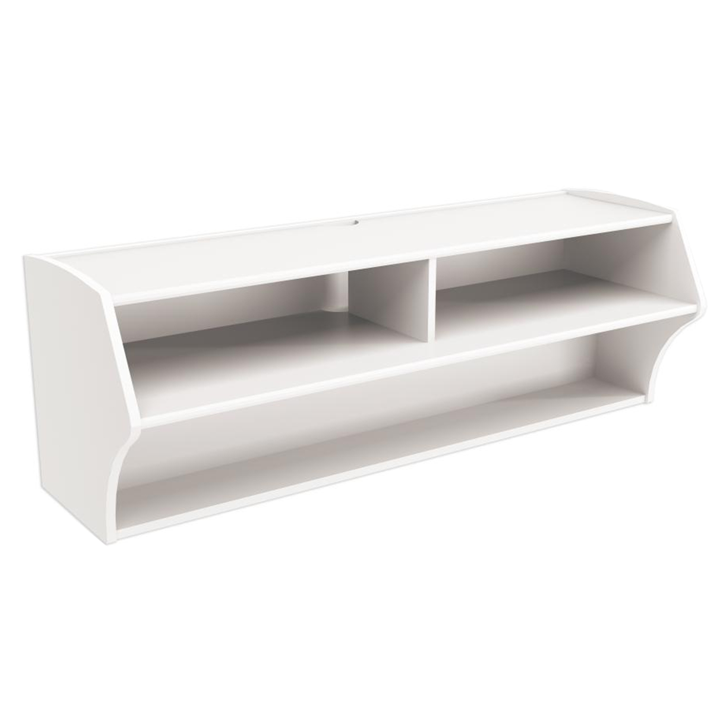 Altus Wall Mounted Audio Video Console - White