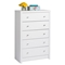 Calla 5-Drawer Chest - Pure White - PRE-WDBR-0550-1
