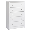 Calla 5-Drawer Chest - Pure White
