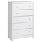 Calla King Platform Bedroom Set with 2-Drawer Tall Nightstand - Pure White - PRE-WBPK-0500-2K-BED-SET