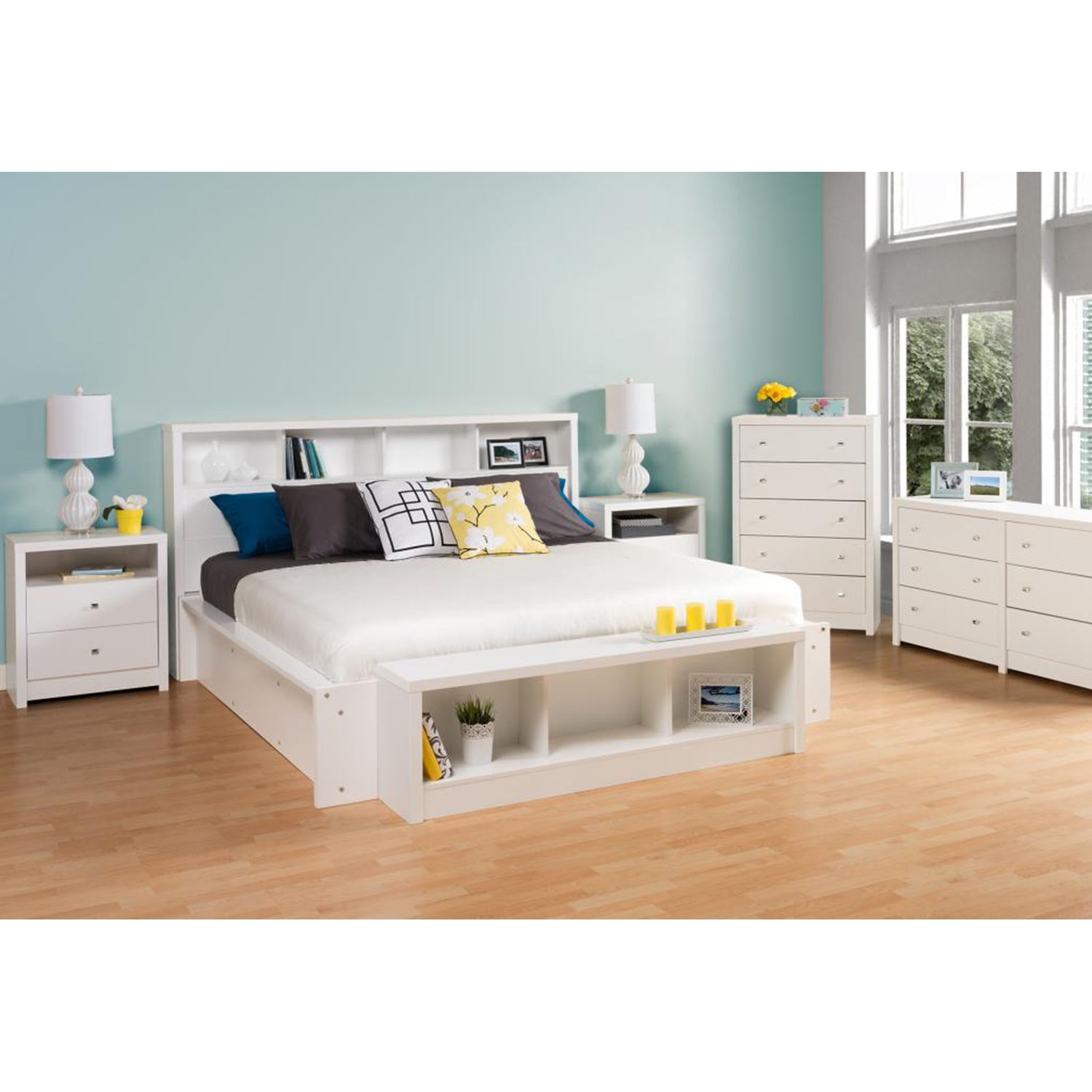 Calla 6-Drawer Dresser - Pure White - PRE-WDBR-0560-1
