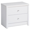 Calla 2-Drawer Nightstand - Pure White