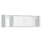 Designer Floating Hutch - White