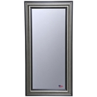 Rectangular Mirror - Antique Smoke & Black Frame