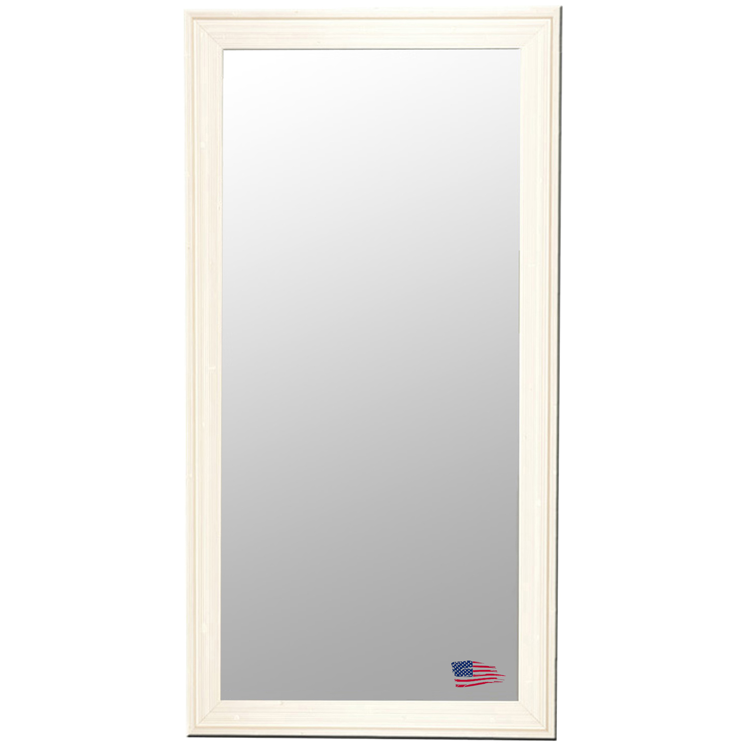 Rectangular Mirror - Barnwood White & Cream Frame