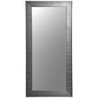 Rectangular Mirror - Bricks Patterned Black Frame