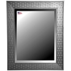 Wall Mirror - Bricks Patterned Black Frame, Beveled Glass