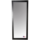Rectangular Mirror - Black Leather Frame
