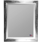 Beveled Mirror - Black Smoke Frame, Silver Liner