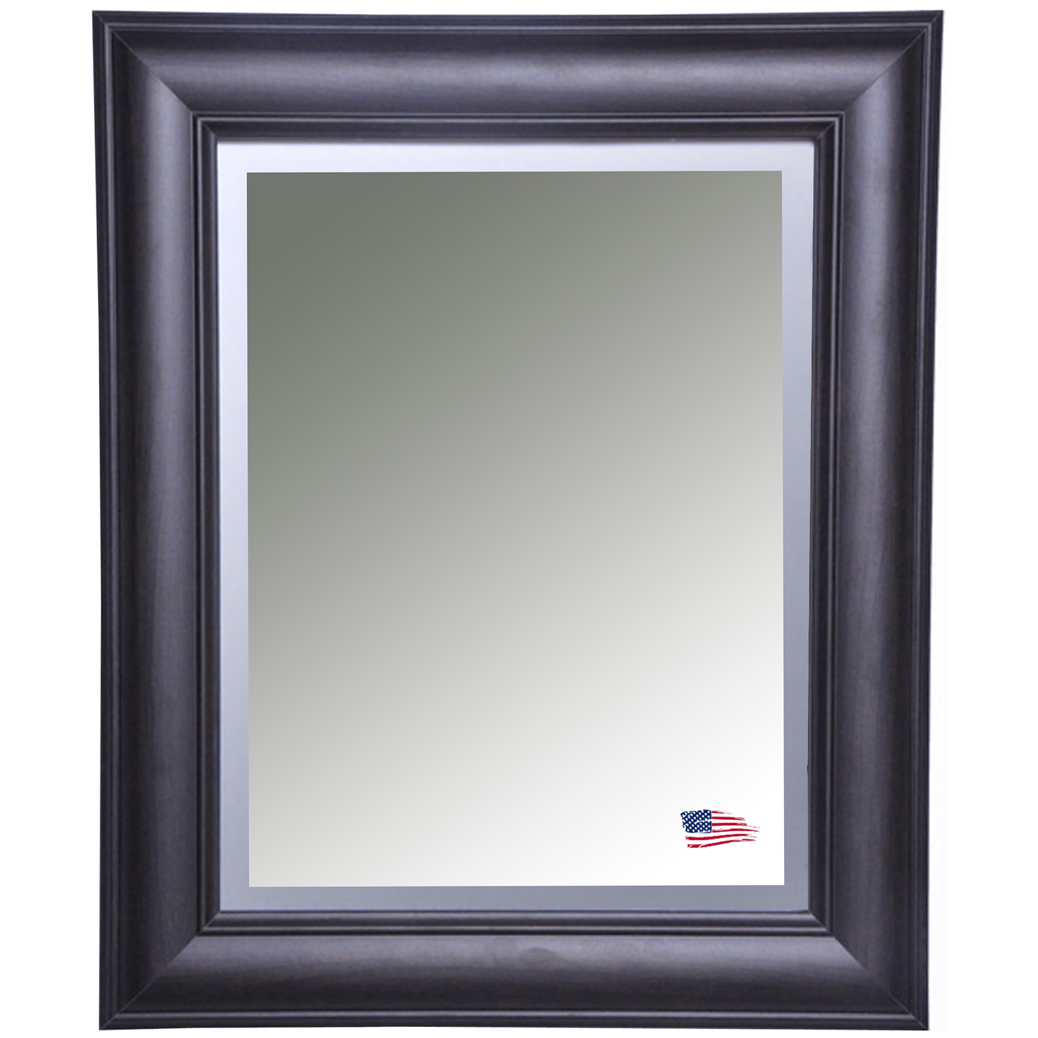 Wall Mirror - Brazilian Walnut Frame, Beveled Glass
