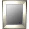 Wall Mirror - Brushed Silver Frame, Beveled Glass SILVER MIRROR