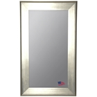 Floor Mirror - Brushed Silver Frame