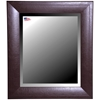 Hanging Mirror - Espresso Leather Frame, Beveled Glass