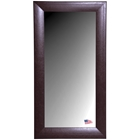 Rectangular Mirror - Espresso Leather Frame