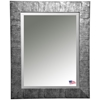 Hanging Mirror - Safari Silver Frame, Beveled Glass