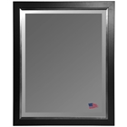Hanging Mirror - Black Frame, Silver Liner, Beveled Glass