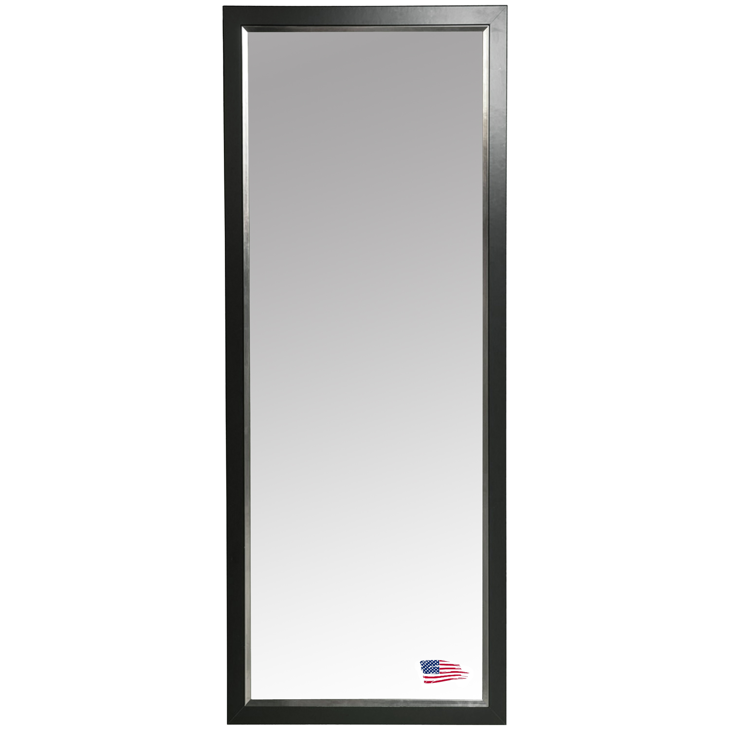 Rectangular Mirror - Black Frame, Silver Liner