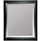 Wall Mirror - Black Angled Frame, Beveled Glass