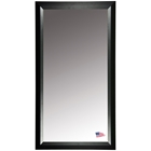Rectangular Mirror - Black Angled Frame