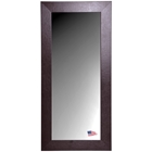Rectangular Mirror - Wide Brown Leather Frame