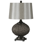 Magnolia Table Lamp - Metal Base, Trimless Linen Shade