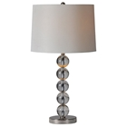 Monaco Table Lamp - Satin Nickel, Crystal Ball Accents
