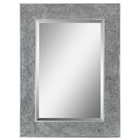 Helena Rectangular Mirror - Crushed Glass, Silver Finished Metal