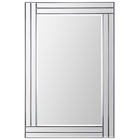 Baton Rouge Rectangular Mirror - Beveled, Step Frame