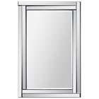 Ava Rectangular Mirror - Beveled, Step Frame