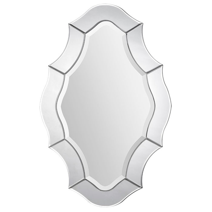 Leonardo Mirror - Beveled, Curvy Glass Frame