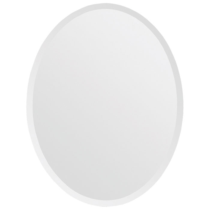 Oval Frameless Mirror - Beveled