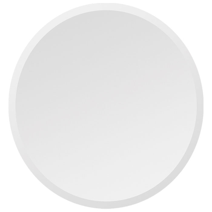 Round Contemporary Mirror - Beveled, Frameless