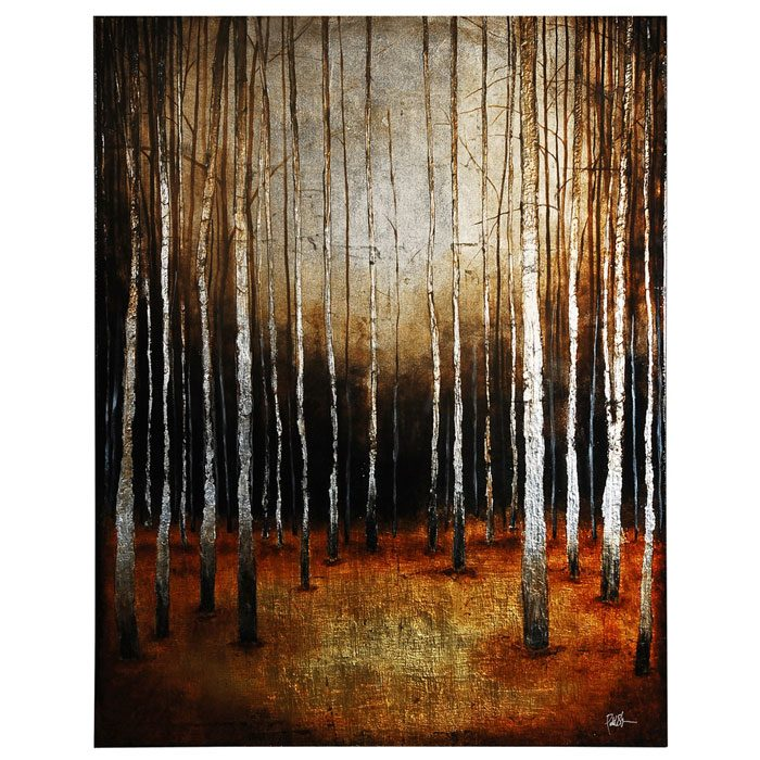 In the Shadows Oil Painting - High Gloss, Rectangular Canvas