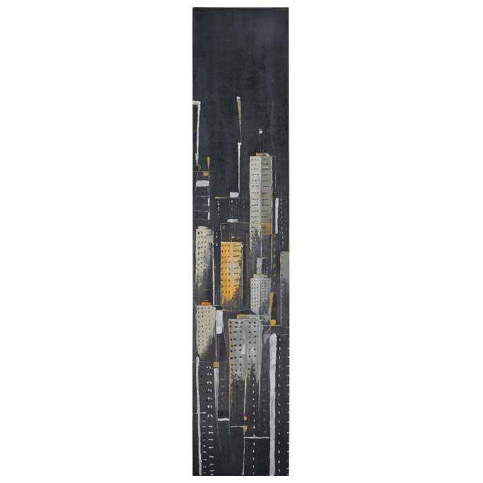 Midnight City I Oil Painting - Gallery-Wrapped, Tall Canvas