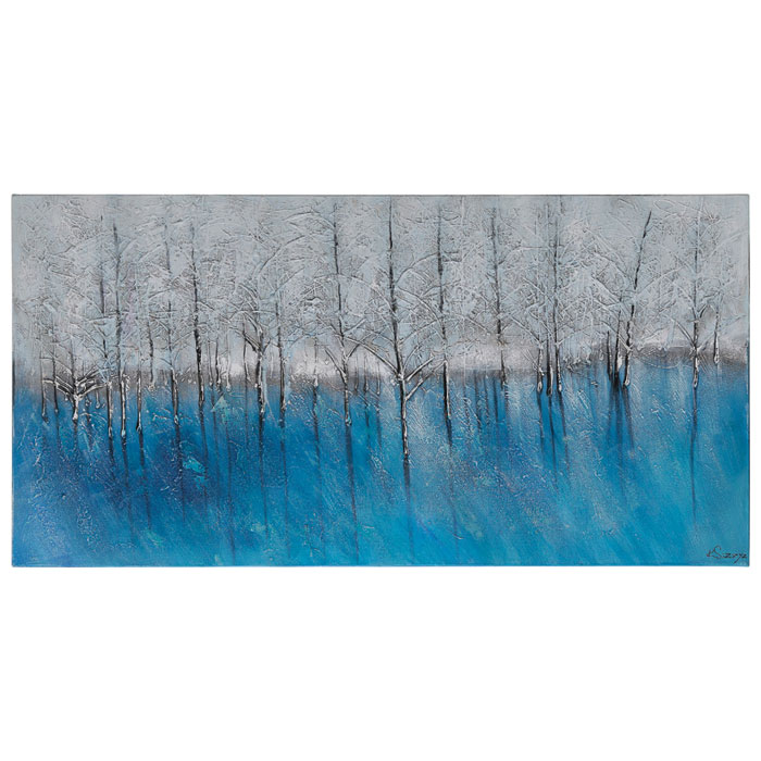 Forest of Blue Oil Painting - Textured, Rectangular Canvas