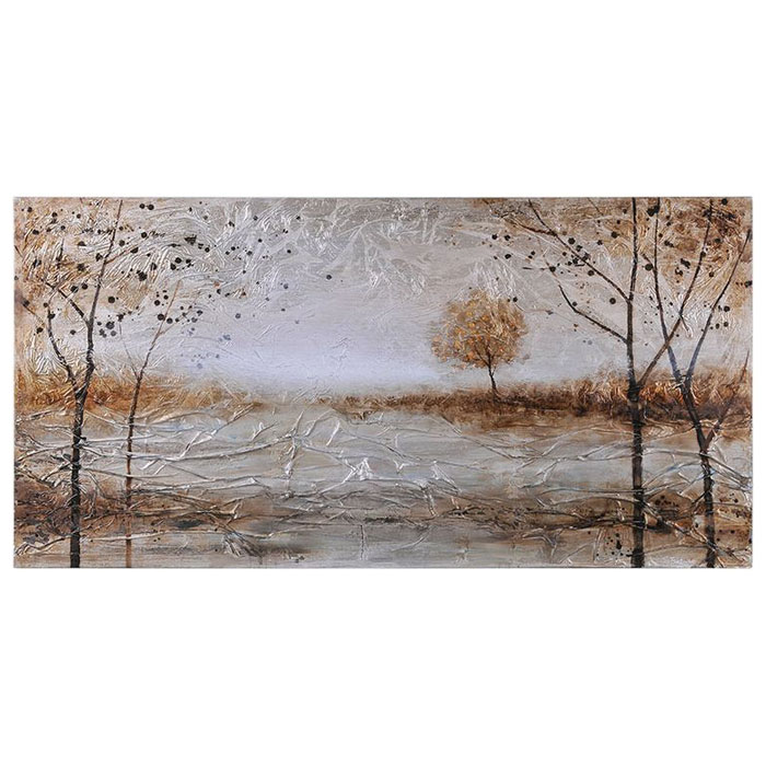 Late Autumn Oil Painting - Textured, Landscape, Rectangular