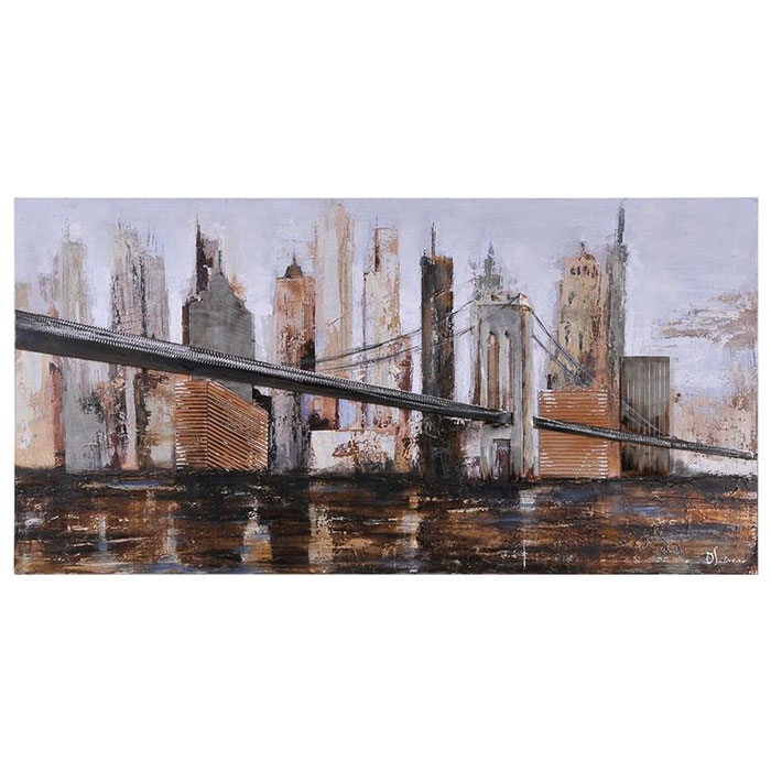 Urban Style Oil Painting - Rectangular Canvas