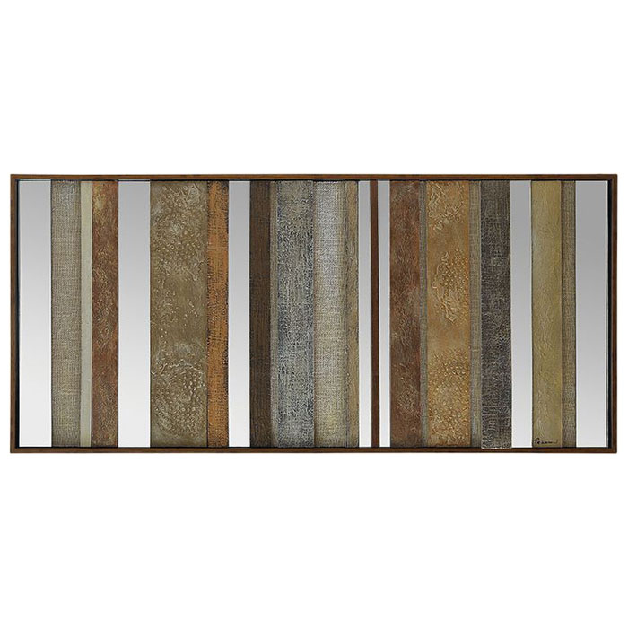 Illusions Framed Wall Art - Wood Strips, Mirror Accents