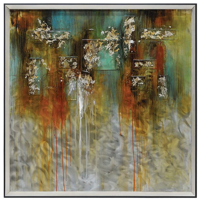 Illusions Framed Wall Art - Abstract, Metal, Square