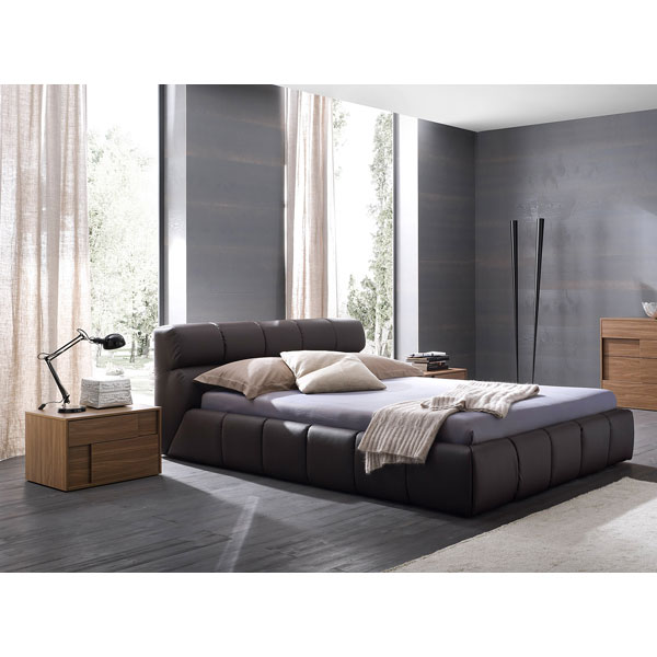 Brown Cloud Bed with Nightstands
