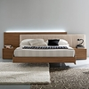 Edge Walnut 3 Piece Bedroom Set - Floating Bed