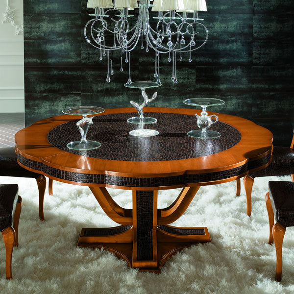 Platinum Round Extension Table