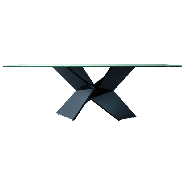 Sapphire Glass Dining Table - ROS-R3482010000XX