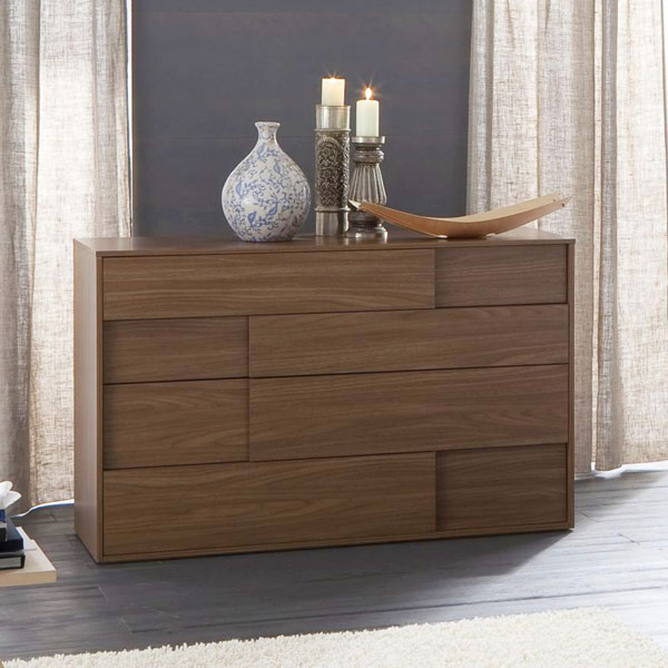 Square Walnut Dresser